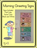 Morning Greeting Signs