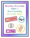 Morning Greeting Signs