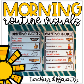 morning routine visuals by teaching differently tpt