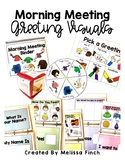 Morning Meeting Greeting Visuals for a Special Education C