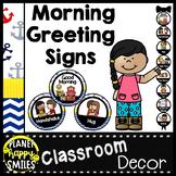 Morning Greeting or Saying Good-Bye Signs Nautical Theme
