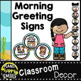 Morning Greeting or Saying Good-Bye Signs Ocean Theme