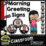 Morning Greeting or Saying Good-Bye Signs Pirate Theme
