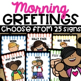 Morning Greetings Choices Morning Greeting Signs