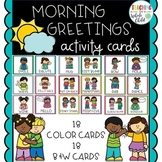 Morning Greetings Activity Cards