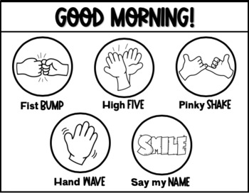 Morning Greetings Choice Board for Upper Grades!