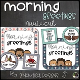 Morning Greeting Choice Cards and Signs- Nautical
