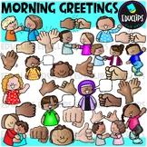 Morning Greetings Clip Art Set {Educlips Clipart}