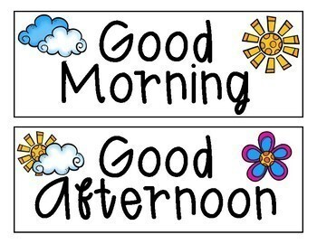 Morning Greetings Freebie
