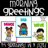 Morning Greetings Posters l Morning Greeting Signs