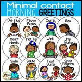 Morning Greetings (Social Distancing) Minimal Contact Posters