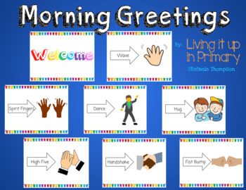 Morning Greetings in Rainbow Colors
