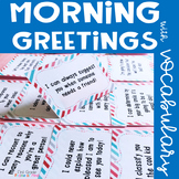 Morning Greetings with Academic Vocabulary