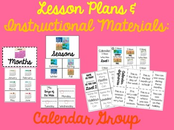 Morning Group Lessons for Autism, ABA and Special Education: Calendar Group