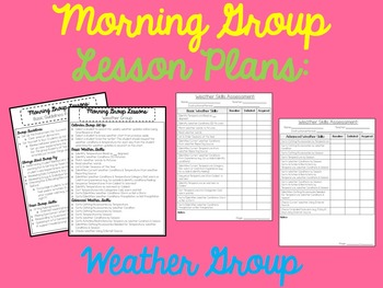 Morning Group Lessons for Autism, ABA and Special Education: Weather Group