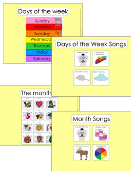 Morning Work (Calendar) SmartBoard Lesson with Video Choices (Special Education)