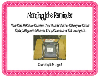 Morning Jobs Chair Note
