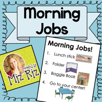 Morning Jobs Printable Visual Sign