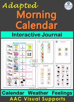 Adapted Interactive Journal: Morning Calendar, Weather & Feelings