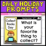 Morning Work Journal   Daily Holidays   September