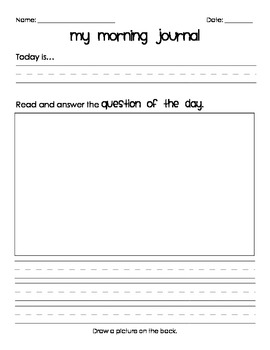 Morning Journal Templates
