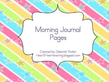 Morning Journal Work