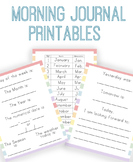 Morning Journal Worksheet Pages