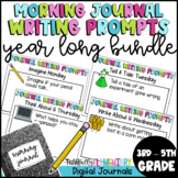 Morning Journal Writing Prompts Full Year Bell Work