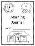 Morning Journal including Vocabulary and Number Practice