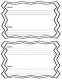 writing journal with sight words and checklist