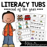 Morning Literacy Tubs for the End of the Year