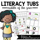 Morning Literacy Tubs for the Middle of the Year