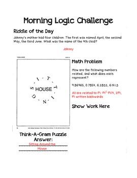 Morning Logic Challenges Set 1
