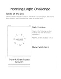 Morning Logic Challenges Set 1
