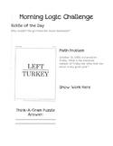 Morning Logic Challenges Set 2