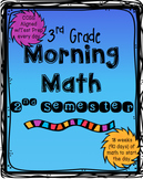 Morning Math: 2nd Semester of 3rd Grade
