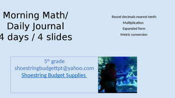 Morning Math 4 Days Blue