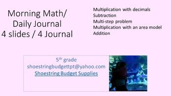 Morning Math 4 Days Pink