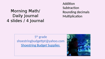 Morning Math 4 Days Purple