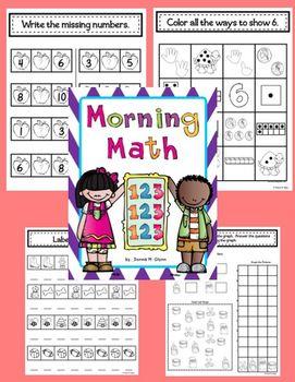 Morning Math Beginning of the Year