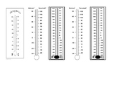 Morning Math Clock and Thermometer Answer Sheet