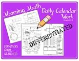Morning Math Daily Calendar Work CC Aligned
