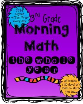 Morning Math: 3rd grade