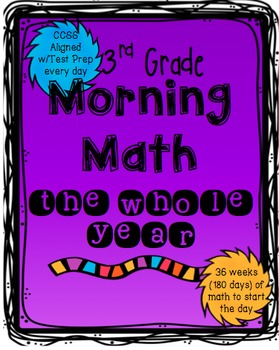 Morning Math: 3rd grade