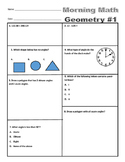 Morning Math - Geometry - 4th Grade
