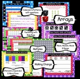 Morning Math Meeting Calendar SMARTBoard Grades 3-5 Common Core