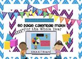 Calendar Math for the SMARTBoard ~ Attendance, Math, and Calendar Common Core