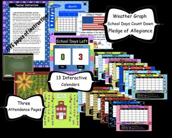 Calendar Math for the SMARTBoard ~ Attendance, Math, and Calendar Common Core