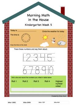 Morning Math Mentals Kindergarten