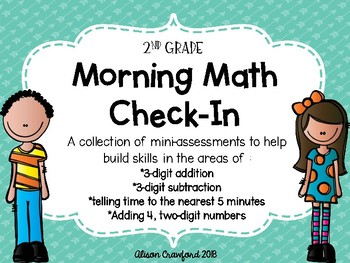 Morning Math Mini Assessments